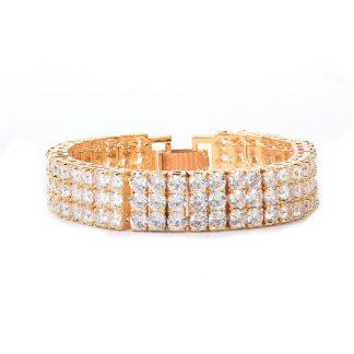 3-row-zircon-bracelet-hip-hop-bling-copper-gold-color-box-clasp-bangle-17-5cm-11