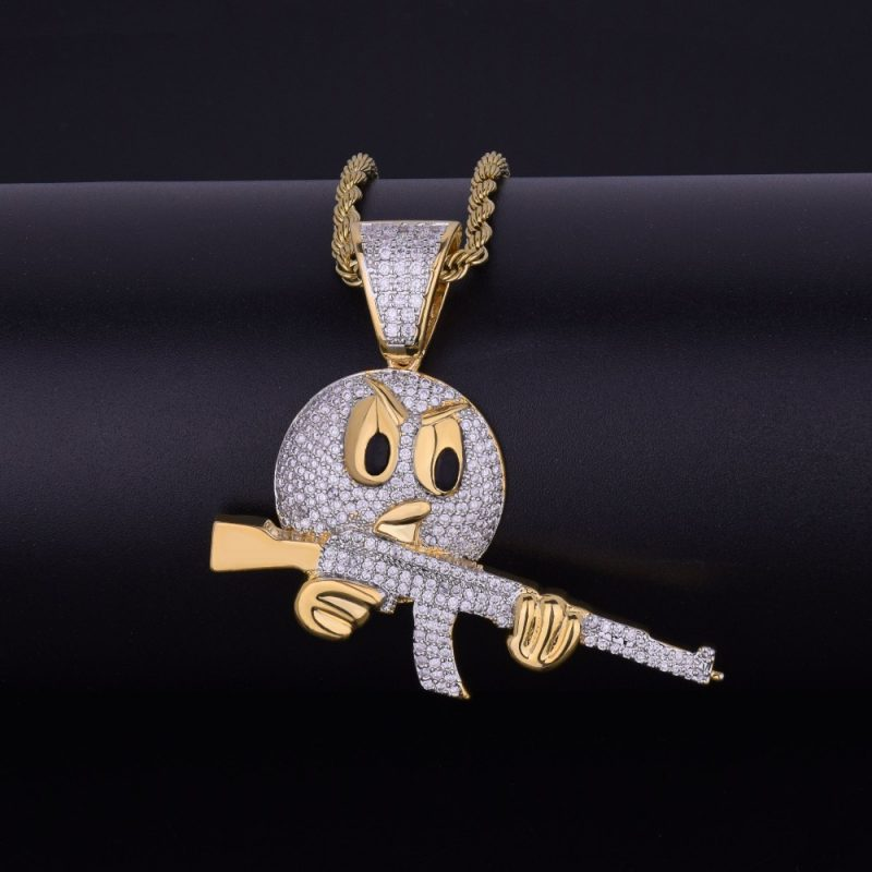 cartoon-round-face-with-ak-47-necklace-pendant-chain-charm-gold-color-cubic-zircon-mens-hip-hop-rock-jewelry-funny-gift-4