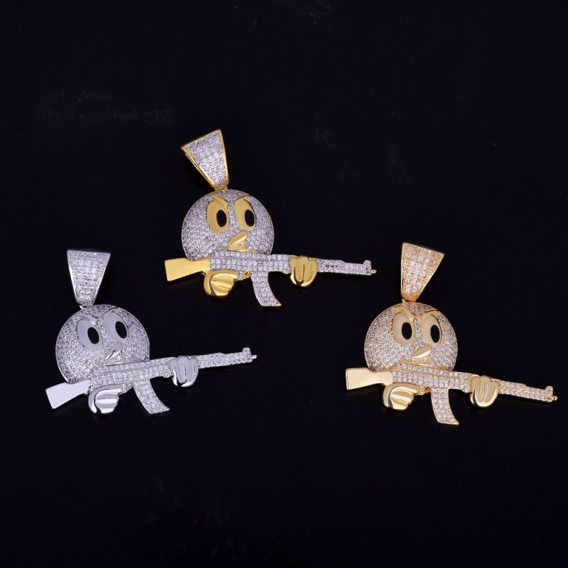 cartoon-round-face-with-ak-47-necklace-pendant-chain-charm-gold-color-cubic-zircon-mens-hip-hop-rock-jewelry-funny-gift-7