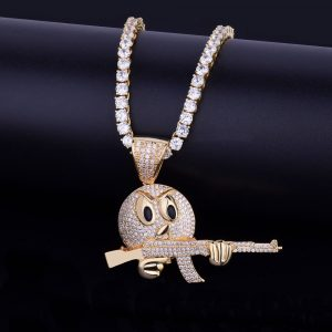 cartoon-round-face-with-ak-47-necklace-pendant-chain-charm-gold-color-cubic-zircon-mens-hip-hop-rock-jewelry-funny-gift-8