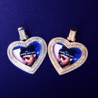 heart-love-memorial-picture-baguette-necklace-solid-back-micro-pave-charm-mens-hip-hop-jewelry-3