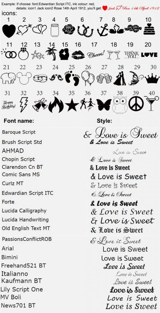 custom silicone bracelets fonts and instruction