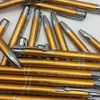 engraved pen wedding
